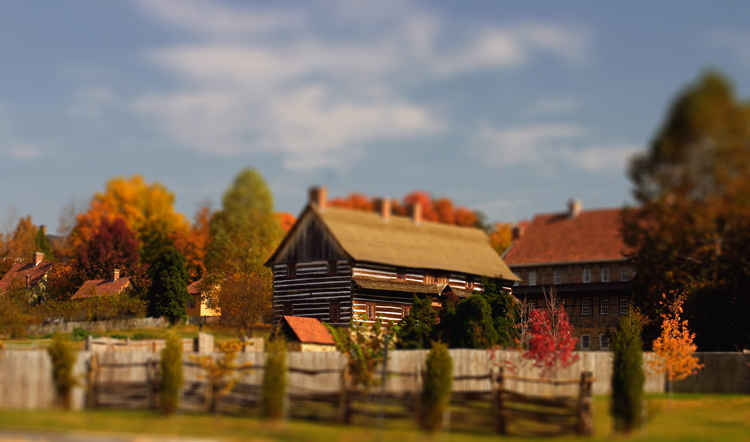 Old Salem with Depth of Field effect